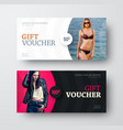 gift voucher design with a semicircle for a photo vector image vector image