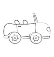grunge sport car to tranport vehicle vector image vector image