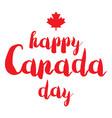happy canada day vector image vector image