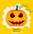 Happy Halloween design background with Halloween vector image vector image