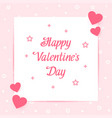 happy valentines day card love pin text vector image vector image
