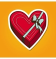 Heart present box with bow vector image