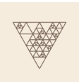 Hipster triangle linear background vector image vector image