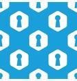 Keyhole hexagon pattern vector image vector image