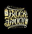 lettering for black friday vector image