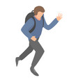 migrant man running icon isometric style vector image vector image