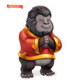 monkey gorilla funny animal in chinese zodiac vector image vector image