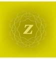 Monogram Z vector image vector image