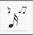 music note icon in trendy flat style isolated on vector image vector image