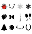 New Year and Christmas icons vector image vector image