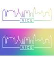 nice skyline colorful linear style editable vector image vector image