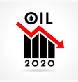 oil price 2020 growth down icon vector image