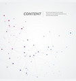 polygonal background with connect dots and lines vector image vector image