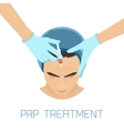 PRP facial treatment for men vector image