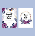 purple white floral celebration wedding card vector image vector image