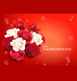 red roses background vector image vector image