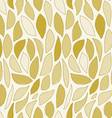 Repeating Brown Leaf Pattern vector image vector image