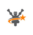 robot solutions vector image