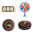 roulette wheel spin mockup set realistic style vector image