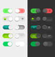 Round Switchers Set vector image vector image