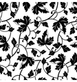 seamless abstract black leaves background isolated vector image vector image