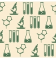 seamless background with laboratory equipment vector image vector image