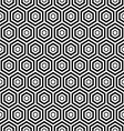 seamless black Hexagon pattern background vector image vector image