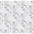 seamless pattern with ethnic leaves vector image vector image