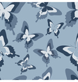 Seamless pattern with grey butterfly vector image