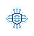 secure network online security icon on white vector image vector image