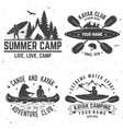 set of kayak club badges vector image vector image