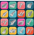 Set of metal profiles icons vector image
