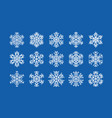 set snowflakes winter christmas concept vector image vector image