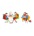 single european mother and her son spending time vector image vector image