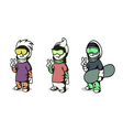 snowboarders vector image