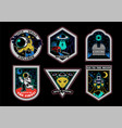 space set stickers patches prints icons vector image vector image