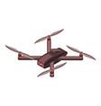 spy drone icon isometric style vector image
