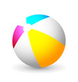 summer colored rubber inflatable beach ball vector image vector image