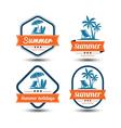 Summer label 2 vector image vector image