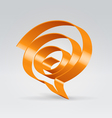 Swirl balloon vector image vector image