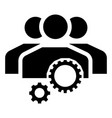 team work gear icon simple style vector image vector image