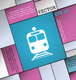 train icon sign Modern flat style for your design vector image