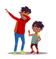 two little afro american boys with dreadlocks vector image vector image