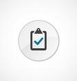 vote icon 2 colored vector image