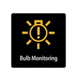warning dashboard car icon bulb monitoring vector image