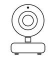 web camera black color icon vector image vector image
