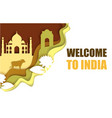 welcome to india poster paper cut vector image vector image