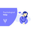 women psychological help psychotherapy vector image