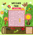 word search puzzle insect bug animals
