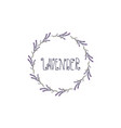 wreath lavender template design vector image vector image